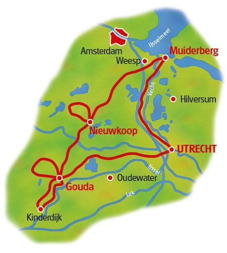 Map Hollands Waterlandscapes