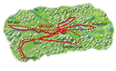 Karte Villach Sternfahrt
