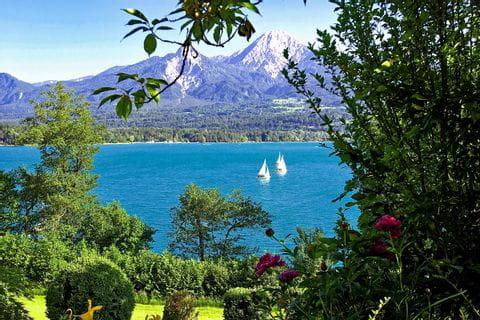 View over sailboats at Lake Faak