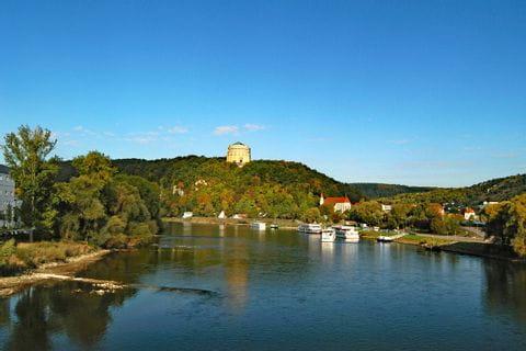 Blick auf Kelheim an der Donau