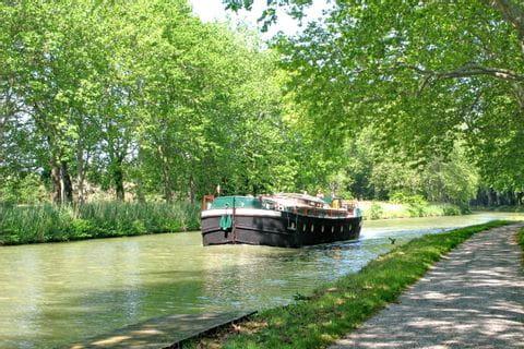 Schiff am Canal du Midi